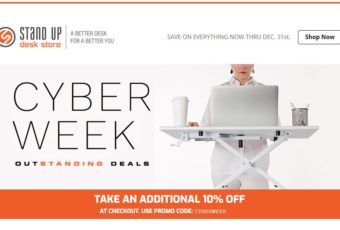 Stand Up Desk Store Cyber Week Landing Page